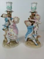 Conta & Boehme Germany 2 X Figural Candle Holders,  Appr.21.5cm Tall