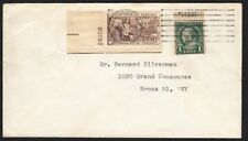 1966 cover with Sc 552a booklet single & Sc 1115 plate number singles