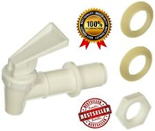 Tomlinson Plastic Water Faucet Spigot Drink Dispenser Replacement Plastic White