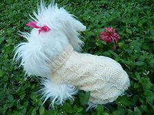 "S handmade knit dog sweater 11""x 9.5"""