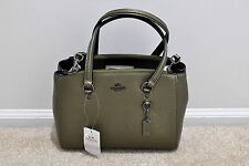 NWT Coach Stanton Carryall 26 in Pebble Leather Metallic Green 36877 MSRP $295