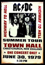 -A3 Size Wall Poster Art Deco - ACDC CONCERT 1979 SHABBY Print -#02