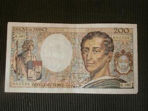 ANCIEN BILLET DE BANQUE 200 FRANC 1990