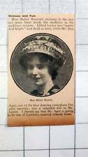 1915 Miss Mabel Munroe In The Charming Hat