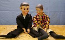 Vtg Charlie McCarthy & title Ricky ventriloquist dummy set A01
