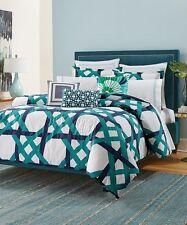 Trina Turk Pacifica Pier Lattice Cotton Comforter & Pillow Sham Set - BRAND NEW