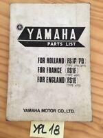 Yamaha 50 FS1P FS1PD FS1F FS1E FS1 catalogue pièces détachées parts list moto