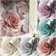 MURIVA MADISON ROSE GLITTER WALLPAPER LUXURY PETALS FLORAL FLOWERS - 5 COLOURS
