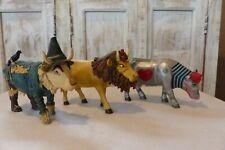 Cow Parade - Wizard of Oz: Tin Cow, Scare Cow, Cowardly Lion Cow -Vg- No Boxes