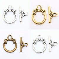 30Sets Tibetan Silver Toggle Clasps Findings For Bracelet Craft Gold Bronze