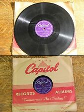 "Vintage 78 1950s Nat King Cole ""The Trouble With Me Is You"" ""Who Do You Know In-"