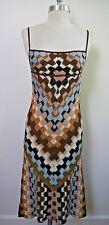 NEW MISSONI Orange Label multi-color knit dress Italian size 40
