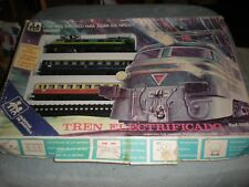 ULTRA VINTAGE RARE VALTOY TIN TRAIN SET AND TRACK BOXED REF. 753 TRAINS MINT