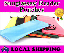 Hi Quality Waterproof Nylon Cloth Dust Pouch Bag Sunglasses Reading Glasses Case