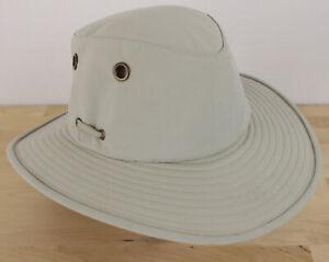 "The Tilley Hat LT6 Size 7-5/8"" Khaki Nylon Safari Endurables"