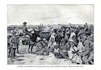 Gefangene Hereros XL Druck 1905 Deutsch-Südwestafrika Namibia Deutsche Kolonie