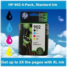 HP 902 4-Pack, Black, Cyan, Magenta, Yellow Ink Cartridges, EXPIRE 2021 !!!