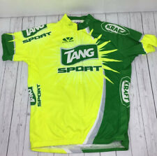 Voler Men's Large Cycling Jersey Kraft Tang Green Yellow  Half Zip