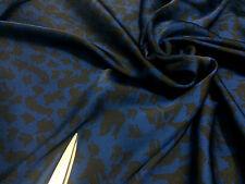*NEW*L/Weight Liquid Satin Navy/Black *Birds* Print Dress/Craft Fabric*FREE P&P*