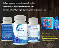 Colon Cleanse Detox Cleanser Diet 60 Pills Weight Loss Best Cleansing