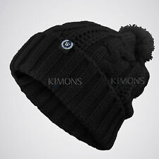 617731c518c76b Cable POM-POM Knit Slouchy Baggy Beanie Oversize Winter Hat Ski Cap Skull  Womens