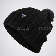 Cable POM-POM Knit Slouchy Baggy Beanie Oversize Winter Hat Ski Cap Skull Womens