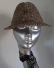 DUNN & CO HARRIS TWEED COOL BROWN TRILBY HAT mod