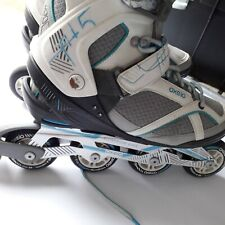 Inline skates Fit 5 oxylane womans size 8 blue white no box