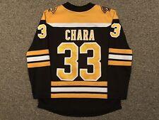 Zdeno Chara - Boston Bruins - 2017-20 Fanatics Home Black Jersey sz Medium