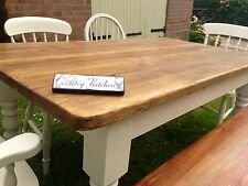 5ft x 3ft Rustic Farmhouse Shabby Chic Table (Table only, handmade to order )