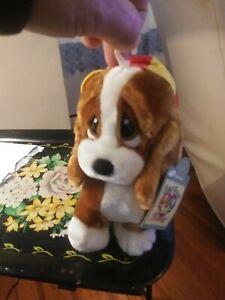 "Vintage Applause Sad Sam Puppy Dog Plush Stuffed Animal Toy 7""with tags"