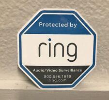 Ring Doorbell Security Sticker Medium3.5 inches Decal Oem Surveillance Deterrent
