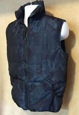 Vtg Woolrich Men S Women M Puffer Puffy Down Ski Vest Blue Steel Made In USA