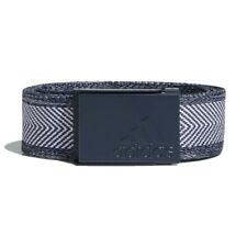 Adidas Heather Webbing Golf Belts - Collegiate Navy/White - One Size Fits All