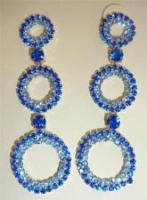 Orecchini di bigiotteria farfalline blu pendente
