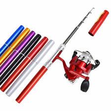 Telescopic Mini Potable Fishing Rod Aluminum Alloy Travel Size Pen Fishing Pole