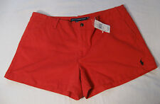 Ralph Lauren Sport Womens Shorts NWT 14 Deep Orange Red 100% Cotton
