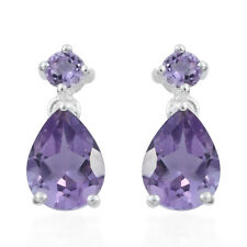abcad8ac6 925 Sterling Silver Pear Purple Amethyst Dangle Drop Earrings for Women  Jewelry