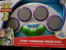 Disney Toy Story 3 Star Command Drum Pad First Act Buzz Lightyear Real Play Rare