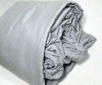 Pottery Barn Gray Tencel Ruffle Full Queen Duvet Cover New