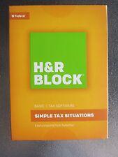New H&R Block Basic Federal Tax Software 2016 Free Ship