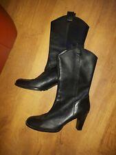 Gianni Bini estilo vaquero negro cuero botas talla 8M (tamaño de Reino Unido 6) en muy buena condición