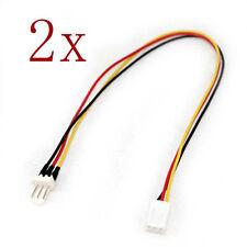 2pcs 3 Pin Fan Power Splitter Cable Lead 1 Female to  Male Motherboard 25cm
