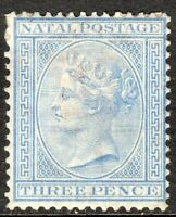 South Africa Natal 1874 blue 3d crown CC perf 14 mint SG68
