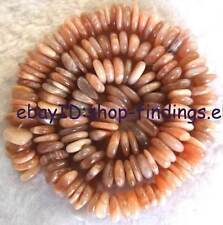 8-12mm Flat Freeform Natural Sunstone Loose Beads 15''