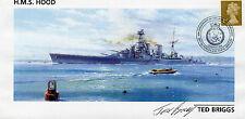 TED BRIGGS Signed Ltd Edition FDC HMS HOOD Survivor COA