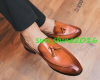Fashion Mens Leather Formal Dress Loafers Dress Shoes Tassel Oxfords Slip On