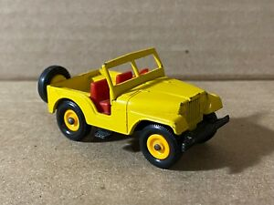 Matchbox Lesney Jeep Yellow Vintage No. 72 Excellent Shape Made in England