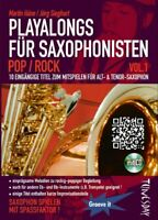 Playalongs für Saxophonisten - Rock / Pop - Vol. 1 mit CD