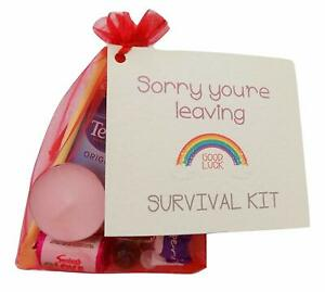 Sorry You're Leaving Keepsake Gift and Card. Novelty Survival Gift.